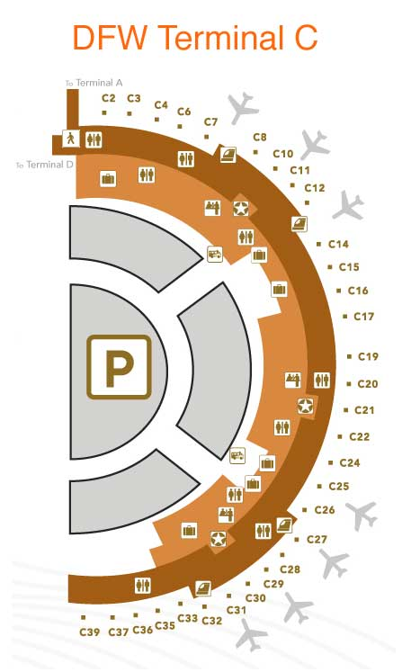 Dallas Fort Worth Airport Map Terminal C - Best Airport 2017 on